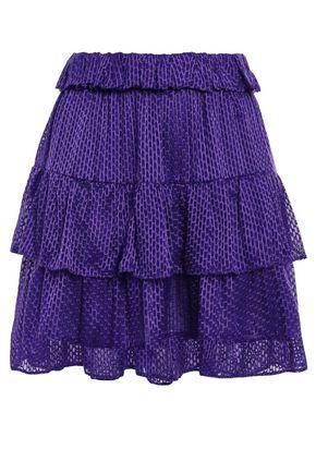 IRO Tiered fil coupé chiffon mini skirt