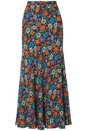 ETRO Floral-print crepe maxi skirt