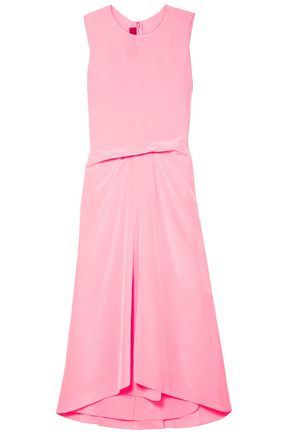 SIES MARJAN Lottie Pick Up silk crepe de chine midi dress