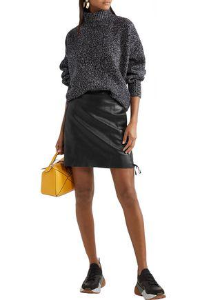 Stella Mccartney Skirts STELLA MCCARTNEY WOMAN LACE-UP FAUX LEATHER MINI SKIRT BLACK