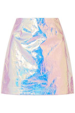 SIES MARJAN Desiree iridescent coated-cotton mini skirt