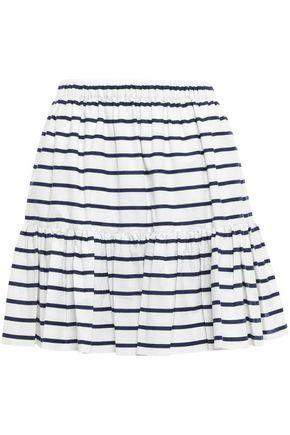 KATE SPADE New York Striped cotton-blend mini skirt