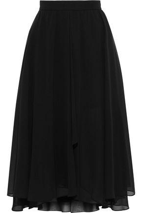 MIKAEL AGHAL Gathered chiffon skirt