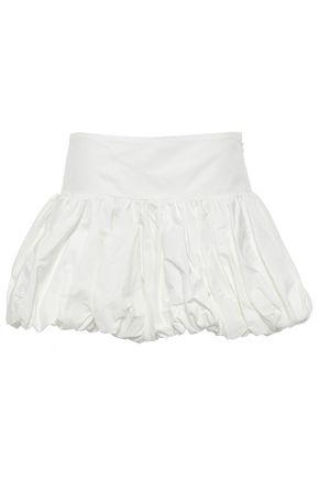 MARQUES' ALMEIDA Gathered twill mini skirt
