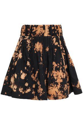 MARQUES' ALMEIDA Gathered printed Tencel mini skirt