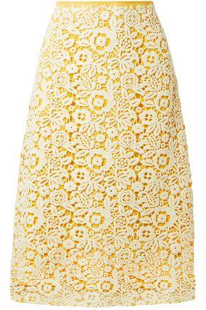 MIU MIU Flared guipure lace midi skirt