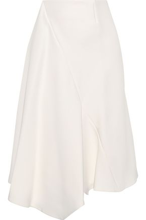 MARNI Asymmetric draped crepe skirt