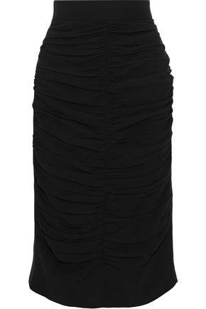 MARNI Ruched crepe skirt