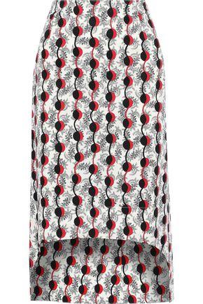 MARNI Printed cotton-poplin skirt