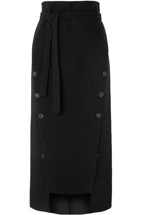 A.W.A.K.E. Button-embellished felt midi skirt