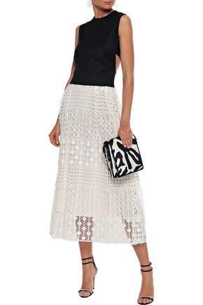 NOVIS The Stratford guipure lace midi skirt