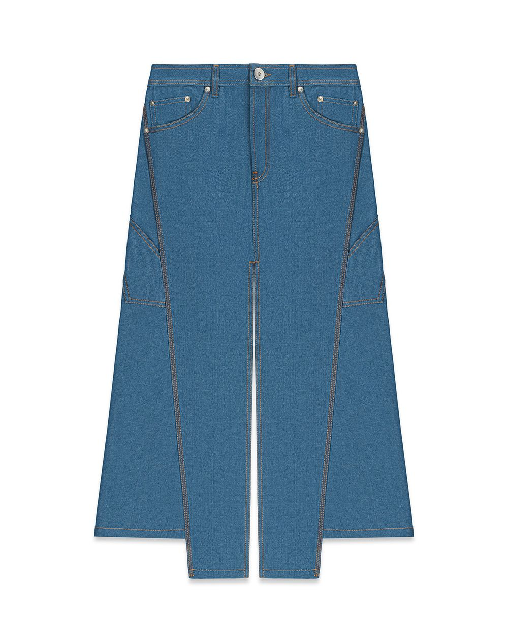 DENIM SLIT SKIRT - Lanvin