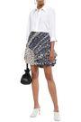 3.1 PHILLIP LIM Ruffled printed silk-georgette mini skirt