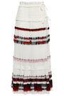 3.1 PHILLIP LIM Ruffled chiffon-trimmed pleated crepe maxi wrap skirt