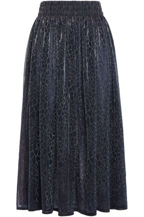 CHRISTOPHER KANE Iridescent leopard-print stretch-jersey midi skirt