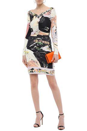 EMILIO PUCCI Printed stretch-jersey mini skirt