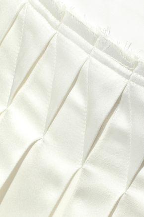 3.1 PHILLIP LIM Pleated satin and poplin midi skirt