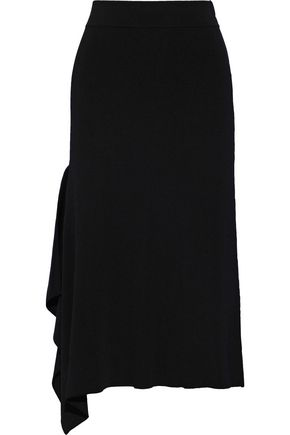 CHARLI Viia draped stretch-knit skirt