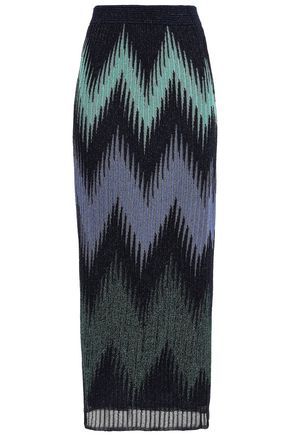 M MISSONI Metallic knitted maxi skirt