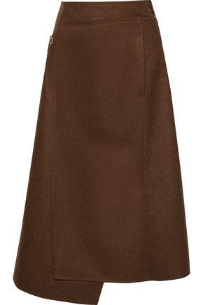 ACNE STUDIOS Wool-blend felt midi wrap skirt