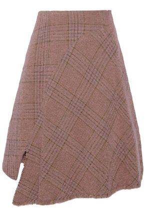 ACNE STUDIOS Checked brushed wool-blend tweed skirt
