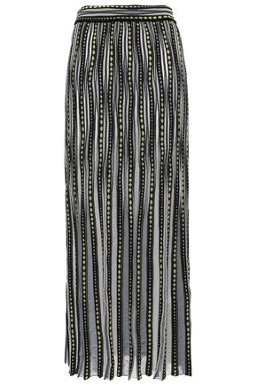 M MISSONI Ribbed jacquard-knit maxi skirt