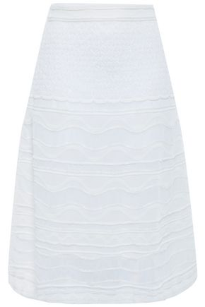 M MISSONI Crocheted cotton-blend skirt