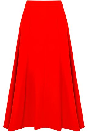 EMILIA WICKSTEAD Ruth wool-crepe midi skirt