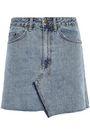 KSUBI Asymmetric denim mini skirt