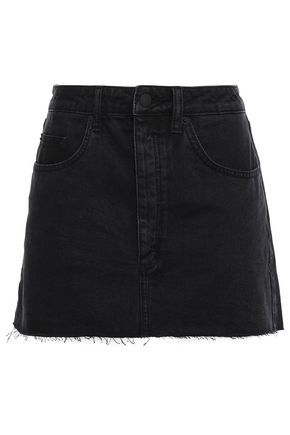 KSUBI Frayed denim mini skirt