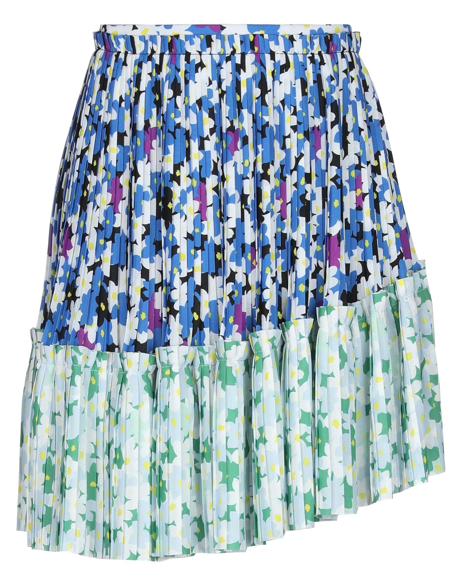 《セール開催中》KENZO レディース ひざ丈スカート ブルー 36 ポリエステル 100%