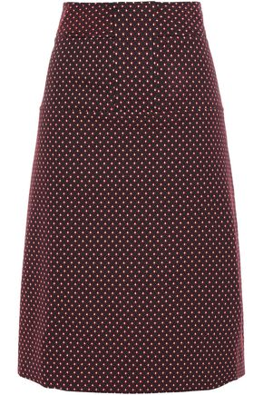 TORY BURCH Cotton-blend jacquard skirt