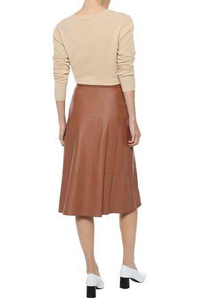 IRIS & INK Tianna leather midi skirt