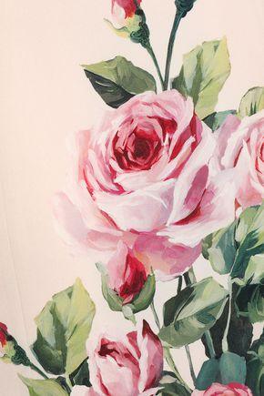 DOLCE & GABBANA Floral-print washed stretch-silk midi skirt