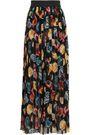 DOLCE & GABBANA Pleated silk-georgette maxi skirt