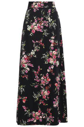 DOLCE & GABBANA Floral-print stretch-silk maxi skirt