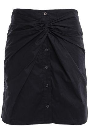 REBECCA MINKOFF Twisted cotton-poplin mini skirt