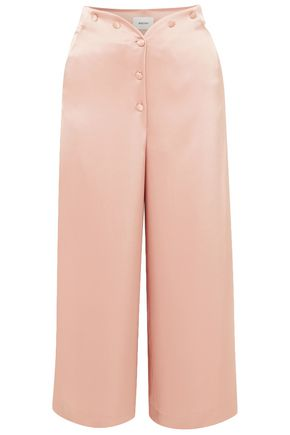 NANUSHKA Pura cropped satin wide-leg pants