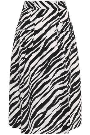W118 by WALTER BAKER Zebra-print crepe de chine midi skirt