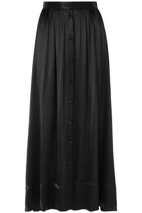 DEITAS Bell silk-satin midi skirt