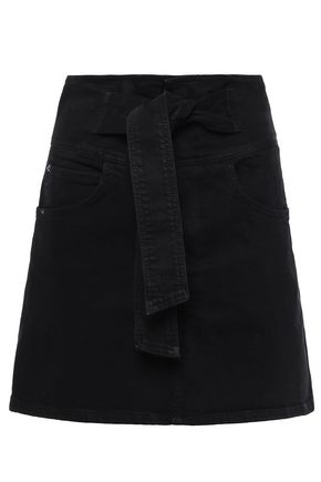REBECCA MINKOFF Callie belted denim mini skirt