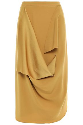 CHALAYAN Draped satin-crepe skirt