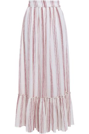 ANTIK BATIK Serifos striped cotton-gauze maxi skirt