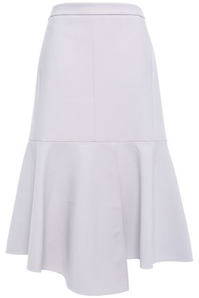 TIBI Flared stretch-crepe midi skirt