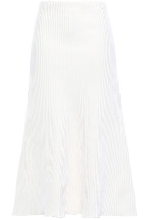 TIBI Ribbed-knit midi skirt