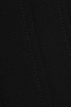 IRIS & INK プリーツ入り クレープ ミディスカート