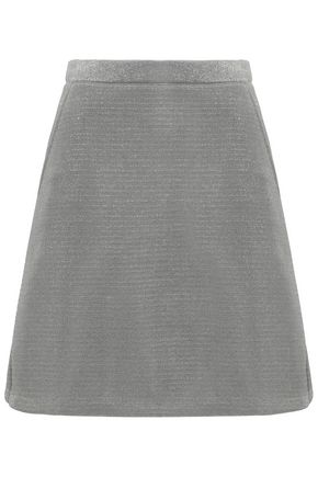 ÊTRE CÉCILE Metallic knitted mini skirt