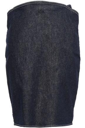 MUGLER Denim pencil skirt