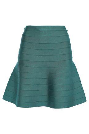 HERVÉ LÉGER Cecilia flared bandage mini skirt