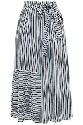 CHINTI AND PARKER Belted twill midi skirt